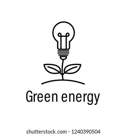 plant, energy outline icon with name