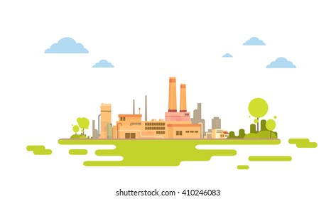 Plant Factory Green. Nature Background. Flat Vector Illustration