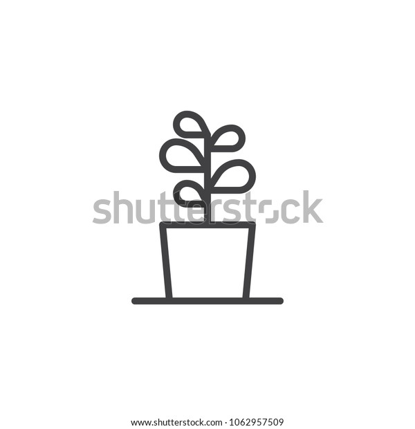 Plant in flower pot outline icon. linear style sign for mobile concept and web design  sc 1 st  Shutterstock & Plant Flower Pot Outline Icon Linear Stock Vector (Royalty Free ...