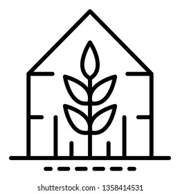 Plant greenhouse icon. Outline plant greenhouse vector icon for web design isolated on white background