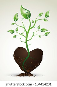 Plant growing from the heart