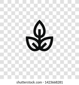 plant icon from miscellaneous collection for mobile concept and web apps icon. Transparent outline, thin line plant icon for website design and mobile, app development