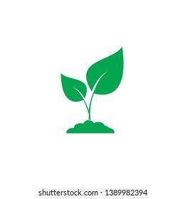 plant icon. sign design illustration on white background