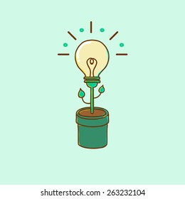 Plant the idea in the form of light bulbs
