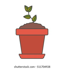 Plant inside pot design