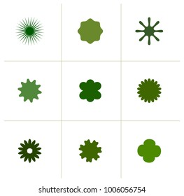 Plant leaf and petal vector icon shapes.