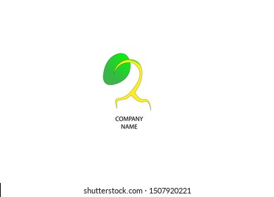 plant logo. green plant seed logo