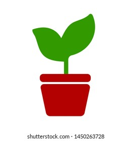 plant pot icon. Logo element illustration. plant pot symbol design. colored collection. plant pot concept. Can be used in web and mobile