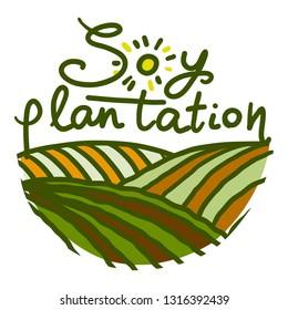 Plantation farm logo icon. Hand drawn illustration of plantation farm logo vector icon for web design