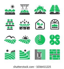 plantation,agriculture icon set