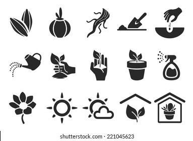 Planting Icons - Illustration