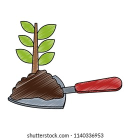 Planting with spatula scribble