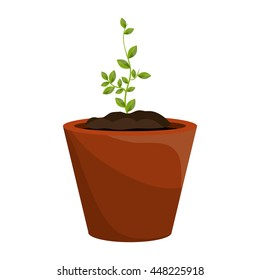Plants and ecology theme design, vector illustration graphic.