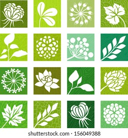 Plants and flowers icons
