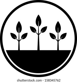 Plants vector icon isolated