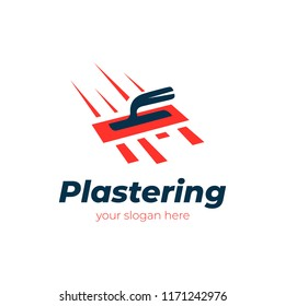 plastering logo. vector design