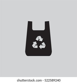 plastic bag with recycle sign