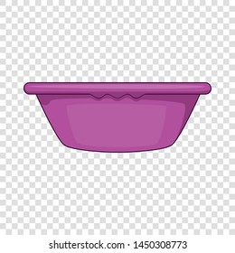 Plastic basin icon. Cartoon illustration of plastic basin vector icon for web design