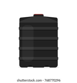 plastic black water tank icon. Vector illustration isolated on white background