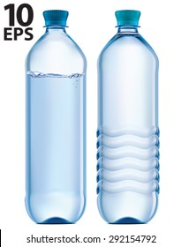 Plastic bottle of clean water. Vector illustration