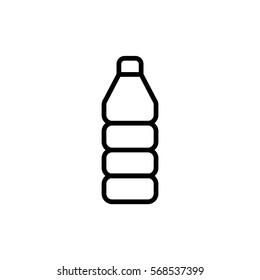 Plastic bottle icon flat