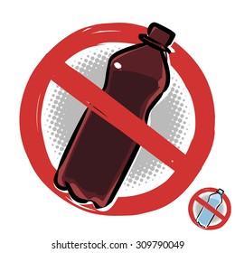 Plastic Bottle Not Allowed Sign