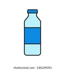 Plastic bottle vector illustration, filled design editable outline icon