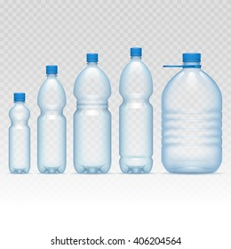 Plastic bottles set