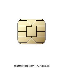 Plastic card chip, electronic device, phone vector illustration symbol icon scheme