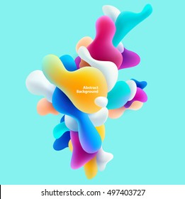 Plastic colorful shapes. Abstract background