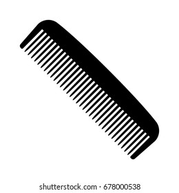 A plastic comb for styling and combing hair flat vector icon for apps and websites