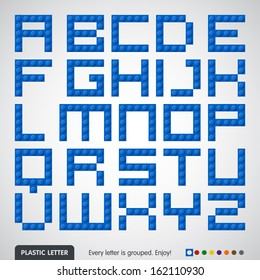 Plastic constructor (alphabet)