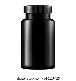 Plastic container for tablets and vitamin