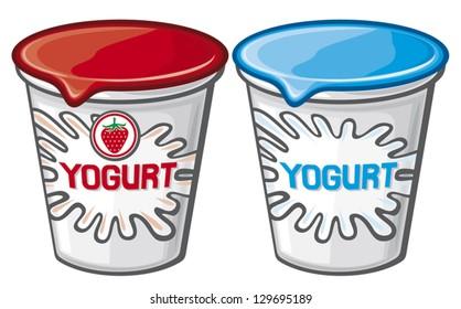 plastic container for yogurt