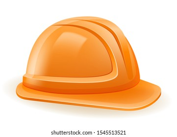 plastic helmet to protect the head in construction or repair stock vector illustration isolated on white background