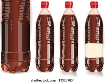 Plastic Label Bottle of Soda Cola.