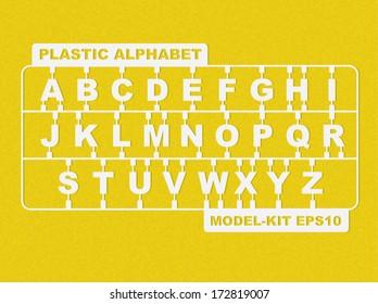Plastic model-kit alphabet