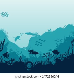plastic pollution of the ocean. Garbage, waste. Eco concept.  Ecological catastrophy. Trash of humanity pollutes nature. Vector.
