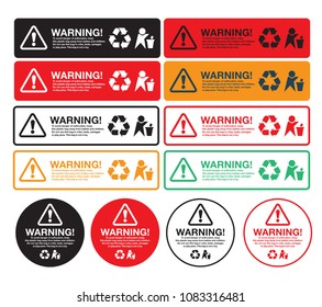 Plastic Poly Bag Suffocation Warning Labels Choking Safety Stickers.