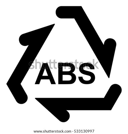 Plastic Recycle Symbol Abs Plastic Recycling Stock Vector Royalty