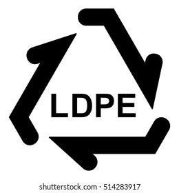 Plastic recycle symbol LDPE, Plastic recycling code LDPE, vector illustration.