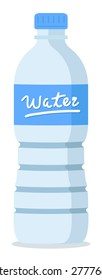 plastic recycled blue water bottle