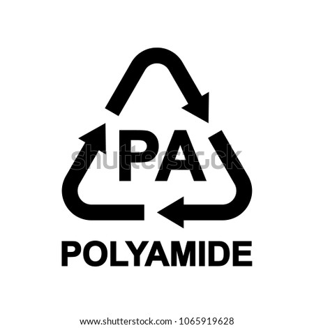 Plastic Recycling Symbol Pa Resin Identification Stock Vector