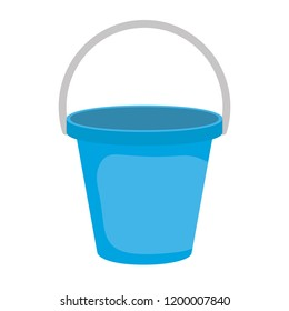plastic sand bucket icon