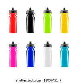 Plastic shaker in the vector.Sports bottle in vector.
