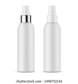 Plastic spray bottles isolated on white background. Vector illustration