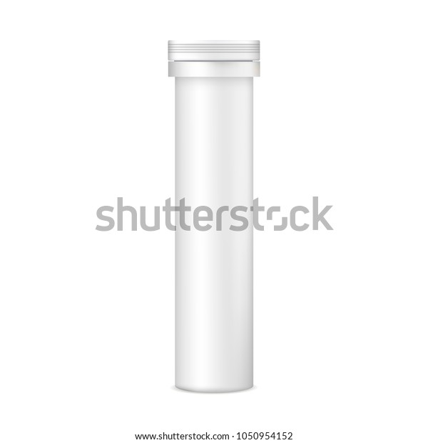 Download Plastic Tablets Tube Mockup Front View Stock Vector Royalty Free 1050954152 PSD Mockup Templates