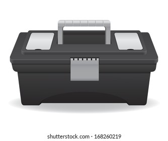 plastic tool box vector illustration isolated on white background