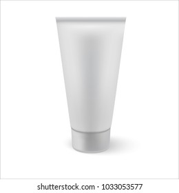 Plastic Tube Of Cream Or Gel. Ready For Your Design. Product Packing Vector  Mock up.
