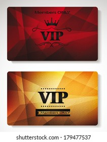 plastic Vip cards with the abstract background